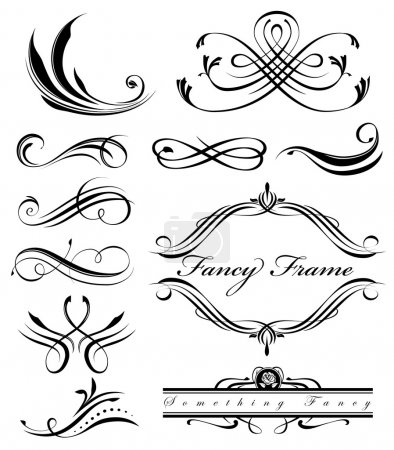 Illustration for Fancy swirls page spacers - Royalty Free Image