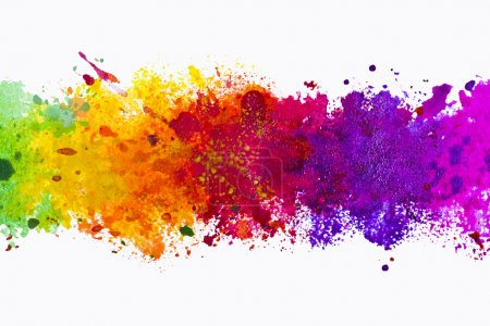 Photo for Abstract artistic watercolor splash background - Royalty Free Image