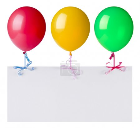 Balloons with banner