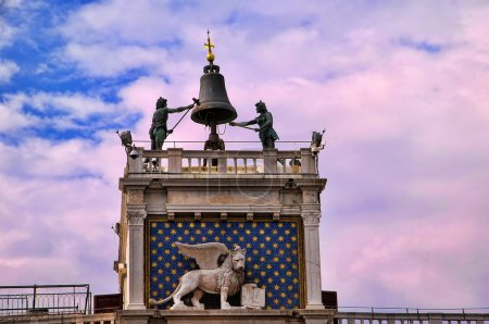 The Clock of the Moors in St Marks Square Venice Italy