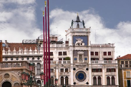 The Clock of the Moors in Venice known as La Serenissima in Northern Italy is a magical place