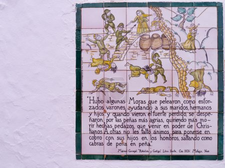 Ceramic Plaques that tell the story of the battle of Frigiliana bwteen the Moors and the Christians