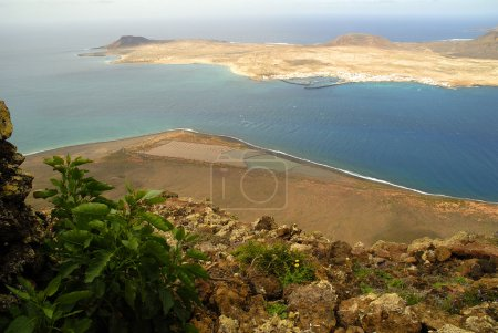 The Mirador Viewpoint on the Volcanic Island of Lanzarote in the Canary Islands