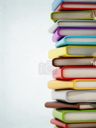 Photo for Colorful book stack with copyspace on the left - Royalty Free Image
