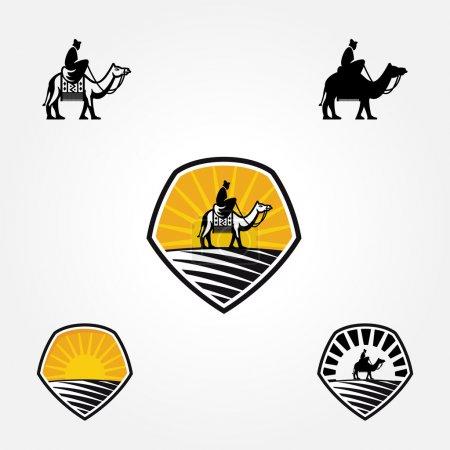 Illustration pour Illustration vectorielle de la conception de badge de chameau, symbole ressemble à logo - image libre de droit