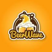 Beer badge design for bar pub or tavern