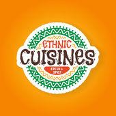 Ethnic cuisines restaurant badge