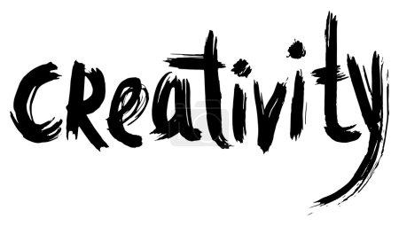 Illustration pour Créativité main lettrage. calligraphie à la main. - image libre de droit