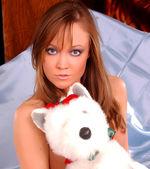 Professional Model Jenny Marie shoots a hot sexy set - teddy bare bear
