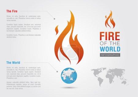 Fire of the world sign icon symbol info graphic. Creative market
