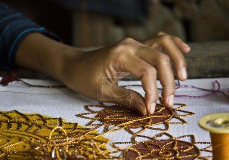 Burmese sewed beads: close up