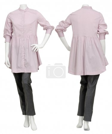 Female pink top on mannequin