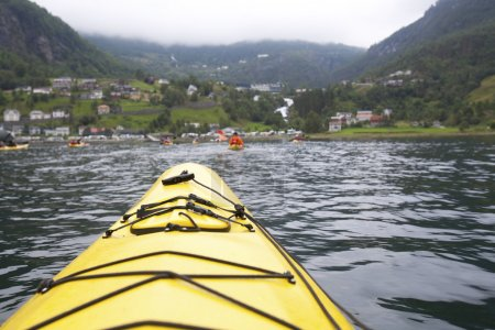 Kayaking the Fjord in Geirangerfjord