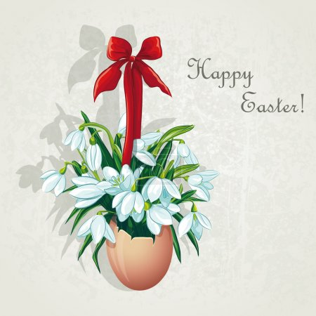 Easter card for the day with snowdrops-EPS10