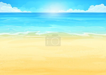 Photo for Illustration background with ocean and beach - Royalty Free Image
