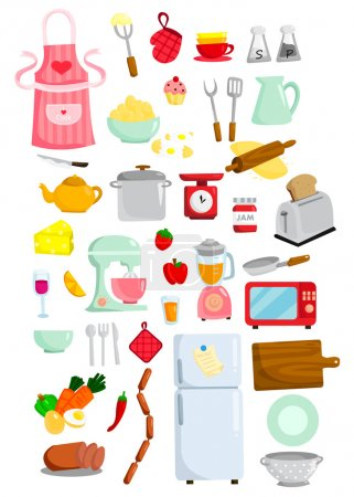 Illustration for Kitchen Vector Set - Royalty Free Image