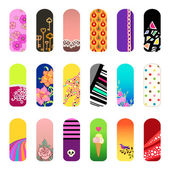 Set of nail art designs