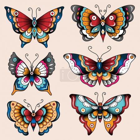 School tattoo art butterflies
