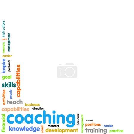 Coaching concept word cloud