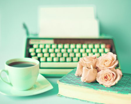 Photo for Vintage Still Life with Roses - Royalty Free Image