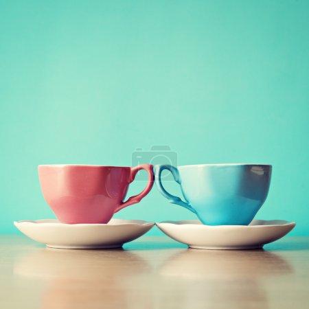 Photo pour Couleur des tasses à café - image libre de droit