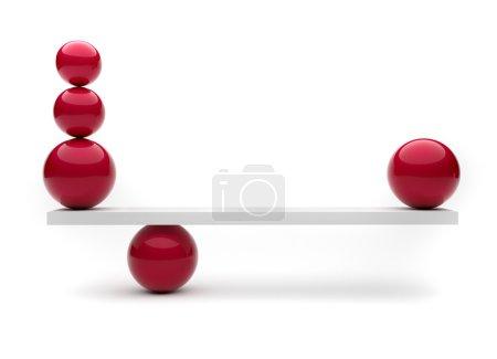 Foto de Esferas en equilibrio - esta es una ilustración de renderizado 3d - Imagen libre de derechos