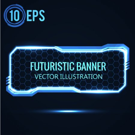 Illustration for Futuristic banner. vector abstract background - Royalty Free Image