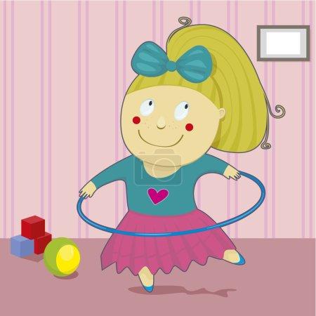 Girl with hoop