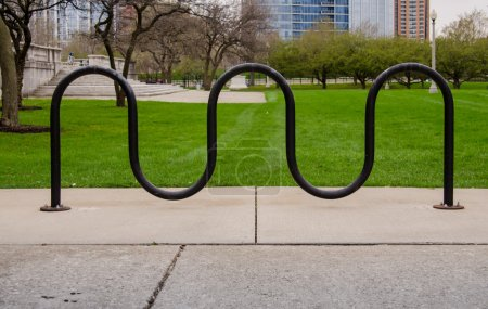 Bike Rack and Grass