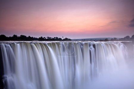 Water fall in morning light