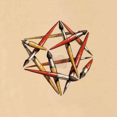 star tetrahedron of the brushes
