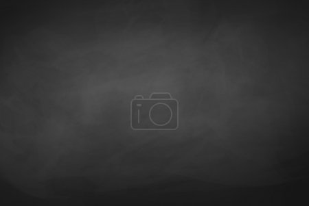 Illustration for Black chalkboard background. Vector texture - Royalty Free Image