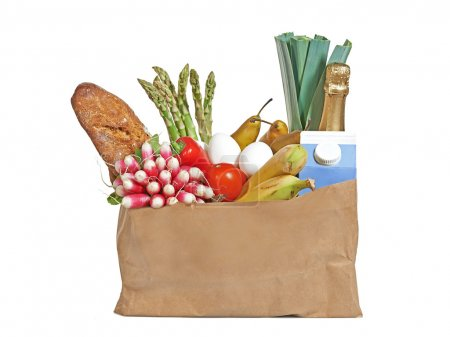 Photo for Groceries in a brown paper bag - Royalty Free Image
