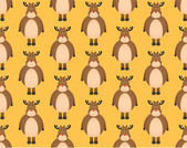 Cute seamless pattern with hand-drawn christmas deer illustration