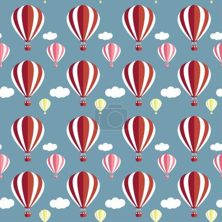 Ilustración de Fondo sin costuras para el uso en el diseño de los globos de aire caliente - Imagen libre de derechos