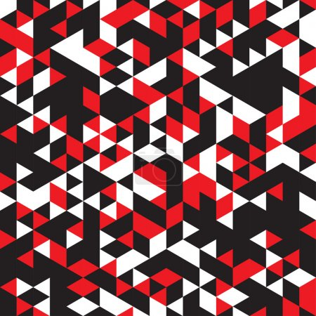 Abstract  geometric pattern of red, white and black colors